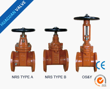 Z45X AWWA Resilient seated gate valves NRS/OS&Y Flanged ends